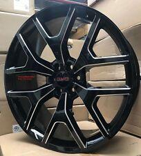 22'' Wheels Tires Sierra Chevy Black Milled GMC Silverado Yukon Denali Suburban