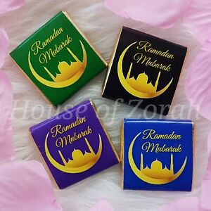 Eid Ramadan Mubarak Moon Chocolates Colourful Party Favour Gift SOLD AS SEEN