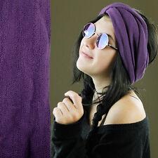 Nepalese Double Wrap 100% Cotton Headband Hair Band Hippy Boho Dreads Purple