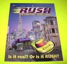 Atari SAN FRANCISCO RUSH Original NOS Video Arcade Game Flyer Race Driving 1996