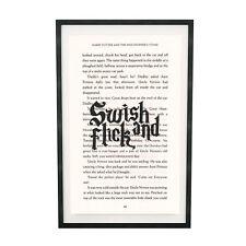 Impresión De Arte Swish y película de Harry Potter en la página de libro de piedra filosofal
