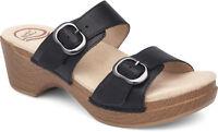 Women's Dansko Comfort Sandal Clog Sophie Black Leather