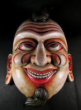 M188 Hand Painted craft wooden face Joker Mask home decor art wall Hanging Nepal