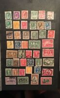 Stamps Canada Lot of 78 early used with light cancellation. See description