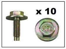 BOLT & WASHER (GOLD) M6x20mm to fit NISSAN Pack of 10