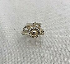 Sterling Silver .925 2 Daisy Ring