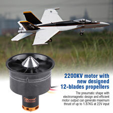 QX RC Motor 2200KV 64mm Ducted Fan 12 Blades 3-6S For RC Airplane Aircraft ❤gi