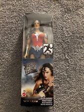 "DC Justice League WONDER WOMAN METALLIC ARMOR 12"" Inch Scale Figure Mattel"