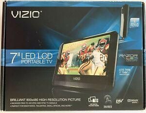 "Vizio VMB070 7"" Edge Lit Razor 1080i HD LED LCD TV Portable Television Tested"