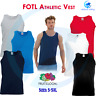 FRUIT OF THE LOOM Men's Classic Fit Cotton Vest Top Gym Sleeveless Tee T Shirt