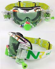 Rip And Roll Motocross Enduro Mx Goggles híbrido Rnr Monstruo Verde