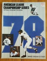 1978 AMERICAN LEAGUE CHAMPIONSHIP SERIES ALCS PROGRAM ROYALS YANKEE STADIUM