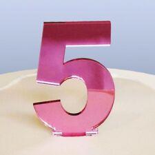 contemporain Numéro 5 gâteau décoration - copié Rose