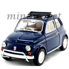 BBURAGO 18-12035 1968 68 FIAT 500 L 1/18 DIECAST MODEL CAR BLUE