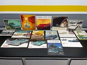 Lot Vintage Original 1950s 60s FORD Automobile Dealer CAR SALES BROCHURE Booklet