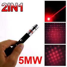 5mw 650nm Red Laser Pointer Pen Beam Light Visibale Lazer With Star Cap From USA