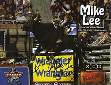 MIKE LEE - Signed 11x8 Official Photograph - BULL RIDING