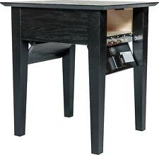 Hidden Compartment End Table- Diversion Safe- Rfid Lock- Black Paint on Oak T1