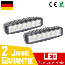 2X LED Arbeitsscheinwerfer 18W Offroad Scheinwerfer Auto SUV 12V 24V Leuchten DE