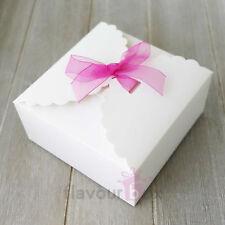 10x White Large Boxes - Cupcake Macaron Wedding Bomboniere Baby Shower Favour