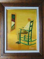 "Caribbean art painting by Famous artist Wilfrid Daleus ""La Sieste"" Haitian-Haiti"