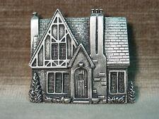 """JJ"" Jonette Jewelry Silver Pewter 'TUDOR Cottage House' Pin"