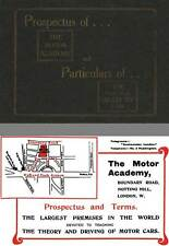The Motor Academy 1906 - Prospectus of... The Motor Academy and Particulars of..
