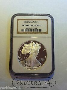 2005-W LIBERTY EAGLE $1 ONE DOLLAR SILVER PROOF 1oz COIN NGC PF70 ULTRA CAMEO