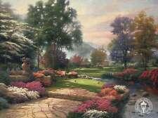 Living Waters - Golf Course in Heaven - Thomas Kinkade Dealer Postcard
