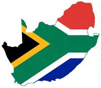 """Auto Aufkleber Südafrika """"South Africa"""" Sticker 11x11cm konturg. Decal die-cut"""