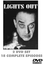 LIGHTS OUT 2 DVD SET  18 Classic Episodes Classic 1949-1952 Horror TV Series