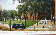 1906 Postcard: Park Place, Streetcar - Rockville, Connecticut CT