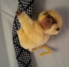 Vintage 1980s Tan Monkey Clip-on Hugger Huggy Toy Plush Pipe Cleaner Tail