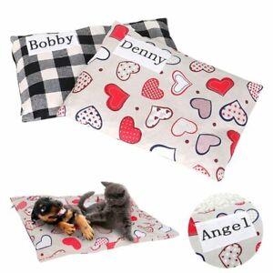 Personalized Dog Cushion Mat Blanket Custom Pet Puppy Cat Soft Sofa Bed Blanket