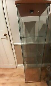 Beech Ikea Detolf Glass Display Cabinet