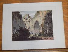 1821 Print, Aquatint Tour of English Lakes///CALDER ABBEY