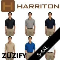Harriton Mens Easy Blend Polo Shirt with Pocket. M265P