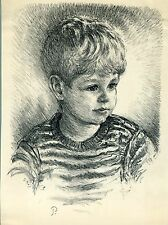 PORTRAIT OF CHILD SIGNED BY OTIS PHILBRICK