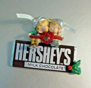 "Enesco Hershey's Christmas Ornament ""Sweet Season's Eatings"" #594202 Used 1993"