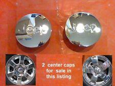 "2005-2010 2 Jeep Grand Cherokee Wrangler Liberty Center Caps Hub chr C8 2.125"""