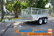 8x5 HOT DIP GALVANISED FULL WELDED TANDEM TRAILER WITH 600mm REMOVEABLE CAGE