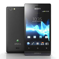 """Unlocked Sony XPERIA miro ST23i 4GB  3.5"""" Wifi Android Smartphone Black"""