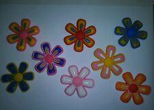 Big flowers 8pc Set SHOE CHARMS LOT FOR CROC SHOES JIBBITZ BRACELET