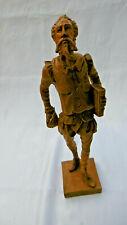 sculpture grand don quichotte en bois