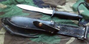 1978 Gerber Mark II Commando Fighting Knife w/ Sheath L6 Steel