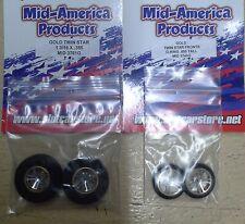 Mid America Gold Twin Star Set Drag Tire Set. 1 3/16 X .385