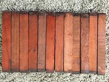 "BURMESE PADOUK PEN BLANKS WOOD TURNING  12 COUNT FREE SHIPPING 3/4"" X 3/4"" X 6"""