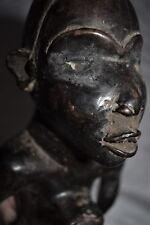 "orig $499-Kongo Nkisi Figure! Glass Eyes Early 1900S Real 12"" Prov."