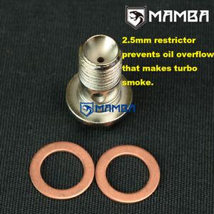 MAMBA K04 Turbo Oil Feed Banjo Bolt Prevent Smoke For MAZDA 3 5 6 CX7 CX9 K0422