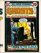 Ghosts 8 COVER PROOF ART Cardy Skeleton from Grandfather Clock 1972 Full Wrap DC